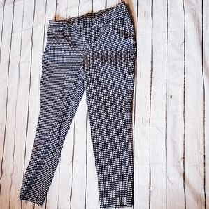 Old Navy Pixie Pant Size 14 Houndstooth Black